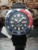 Jewelry & Watches:Watches, Parts & Accessories:Wristwatches - Seiko Pepsi Bezel New Turtle 200M Diver's Men's Watch SRP779K1