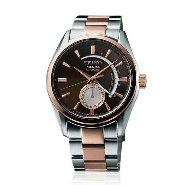 Jewelry & Watches:Watches, Parts & Accessories:Wristwatches - Seiko Presage Men's Two Tone Rose Gold Plated W/ PowRes Indicator Watch SSA354J1
