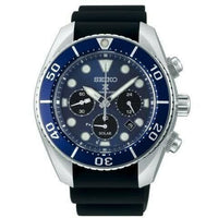 Jewelry & Watches:Watches, Parts & Accessories:Wristwatches - Seiko Prospex Sumo Solar Chronograph Black Men's Rubber Strap Watch SSC759J1