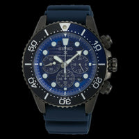 Jewelry & Watches:Watches, Parts & Accessories:Wristwatches - Seiko Save The Ocean Dark Solar Chronograph Blue Dial 200M Divers Watch SSC701P1