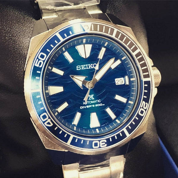 Jewelry & Watches:Watches, Parts & Accessories:Wristwatches - Seiko SE Save The Ocean Great White Shark Samurai Diver's Men's Watch SRPD23K1