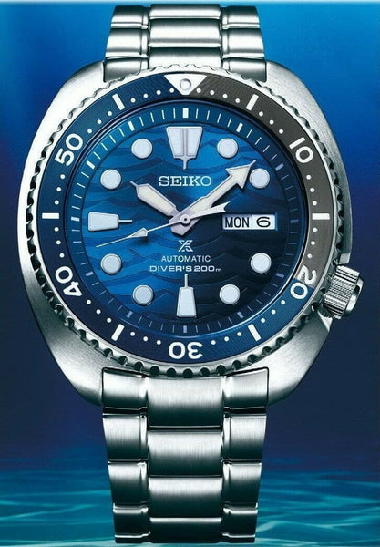 Jewelry & Watches:Watches, Parts & Accessories:Wristwatches - Seiko SE Save The Ocean Great White Shark Turtle Diver's Men's Watch SRPD21K1