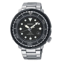Jewelry & Watches:Watches, Parts & Accessories:Wristwatches - Seiko Solar Tuna Black Dial Prospex Diver's Men's Watch SNE497P1