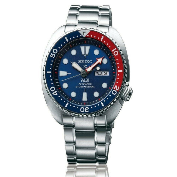 "Jewelry & Watches:Watches, Parts & Accessories:Wristwatches - Seiko Special Edition PADI ""Turtle Pepsi Ninja"" Men's Watch SRPA21K1"