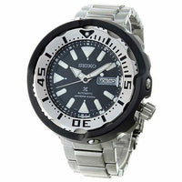 Jewelry & Watches:Watches, Parts & Accessories:Wristwatches - Seiko Stainless Black Ceramic Shroud Tuna Prospex Diver's Men's Watch SRPA79K1