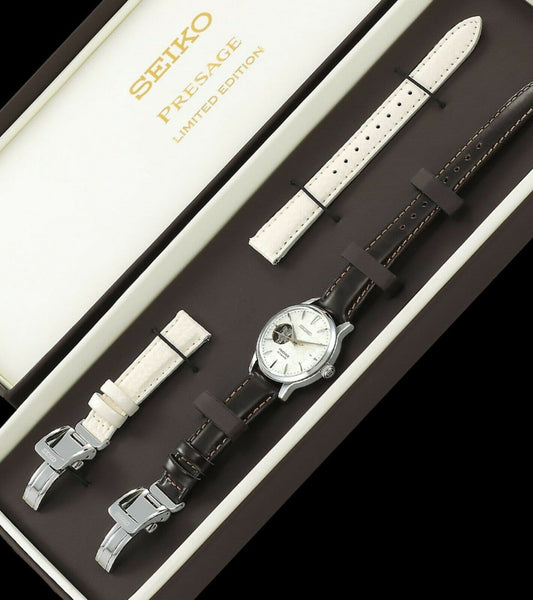 Jewelry & Watches:Watches, Parts & Accessories:Wristwatches - Seiko Star Bar LE Presage Honeycomb Open Heart Ladies' Watch SSA781J1