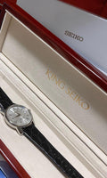 King Seiko 140th Anniv LE 1965 KSK Recreation Men's Crocodile Strap Watch SJE083J1
