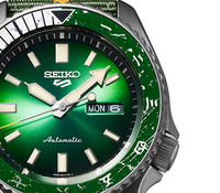Seiko 5 Sports 100M Naruto LE Rock Lee Automatic Men's Watch Green Dial Nylon Strap SRPF73K1 - Diligence1International