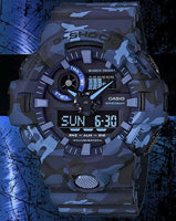 Casio G-Shock Military Blue Camo Watch Camouflage GA700CM-2ADR - Diligence1International
