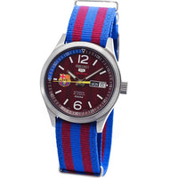 Seiko 5 Sports FC Barcelona 100M Red Dial Men's Watch Nylon Strap SRP305K1 - Diligence1International