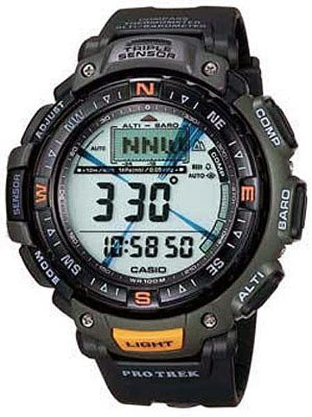 Casio Protrek Pathfinder Triple Sensor Digital Men's Black Resin Watch PRG-40-3V - Diligence1International