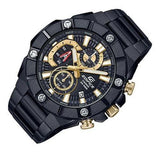 Casio Edifice Chronograph Black x Gold Series Men's  PVD Stainless Steel Watch EFR-569DC-1AV - Diligence1International