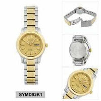 Seiko 5 Classic Gold Dial Couple's 2 tone Gold Plated Stainless Steel Watch Set SNK792K1+SYMD92K1 - Diligence1International