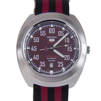 Seiko 5 Sports Red Carbon Fiber Dial Limited Edition Helmet Turtle Watch SRPA87K1