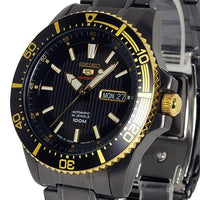Seiko 5 Sports JAPAN Made 100M Black Ion Plated Automatic Men's Watch SRP558J1 - Diligence1International