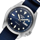 NEW Seiko 5 Sports 100M Automatic Men's Watch All Navy Blue Nylon Strap SRPE63K1 - Diligence1International