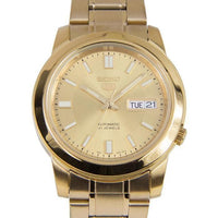 Seiko 5 Classic Mens Size Gold Dial & Plated Stainless Steel Strap Watch SNKK20K1 - Diligence1International