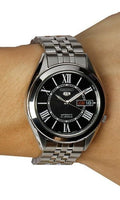 Seiko 5 Classic Men's Size Black Dial Stainless Steel Strap Watch SNKL35K1 - Diligence1International