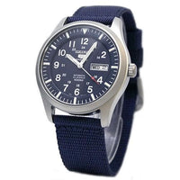Seiko 5 Sports Military 100M Automatic Men's Watch Blue Nylon Strap SNZG11K1 - Diligence1International