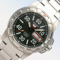 Seiko 5 Sports JAPAN Made Military 100M Green Dial Automatic Men's Watch SRP215J1
