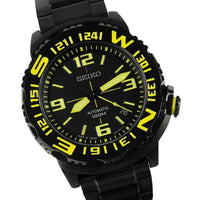 Seiko Field Monster Automatic 100M Men's Black PVD Stainless Strap Watch SRP449K1 - Diligence1International