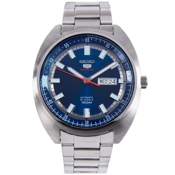 Seiko 5 Sports 100M Blue Helmet Turtle Automatic Men's Stainless Steel Watch SRPB15K1 - Diligence1International