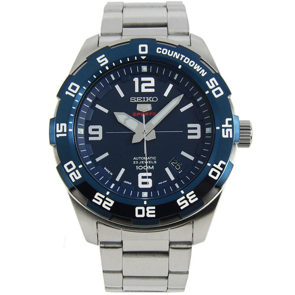 Seiko 5 Sports Japan Made 100M Automatic Men's Watch Blue Dial SRPB85J1 - Diligence1International