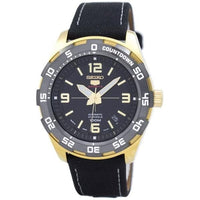Seiko 5 Sports JAPAN Made 100M Automatic Watch Black Dial Nylon Strap SRPB86J1 - Diligence1International