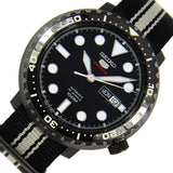 Seiko 5 Sports JAPAN Made Bottle Cap 100M Men's Nylon Strap Watch SRPC67J1
