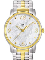 Tissot Swiss Made T-Round 2 Tone Gold Plated Ladies' MOP Watch T052.210.22.117.00