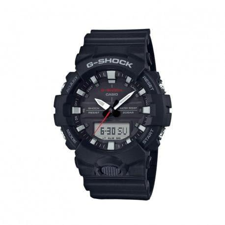 Casio G-Shock Standard Analog Digital Black x Red x Grey Accents Watch GA800-1ADR - Diligence1International