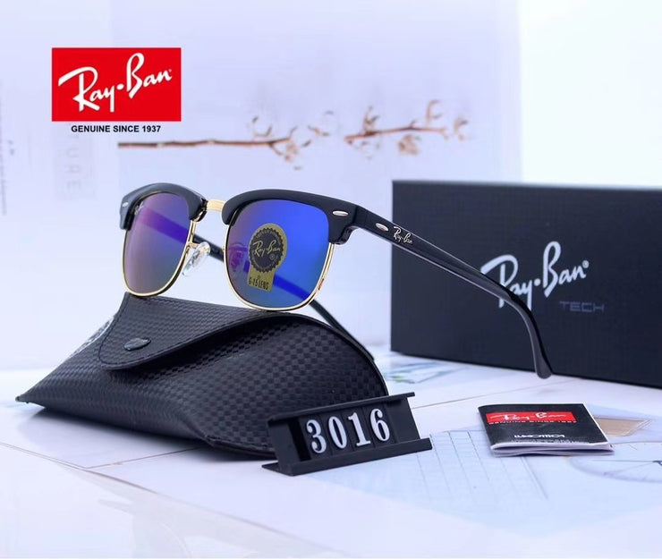 Ray Ban Clubmaster Classic RB3016 - Black Frame and Blue Gradient Lenses _mxm_store_exclusive_brands