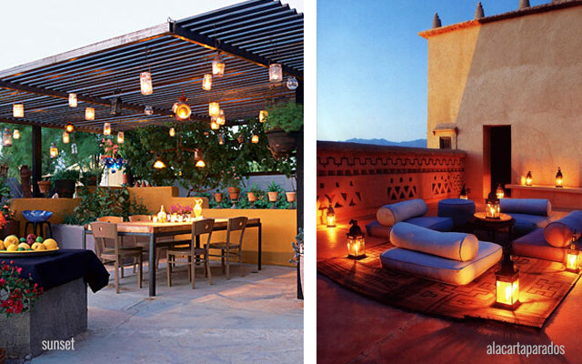 4 consejos b sicos para decorar tu patio dobleuu for Luces colgantes para jardin