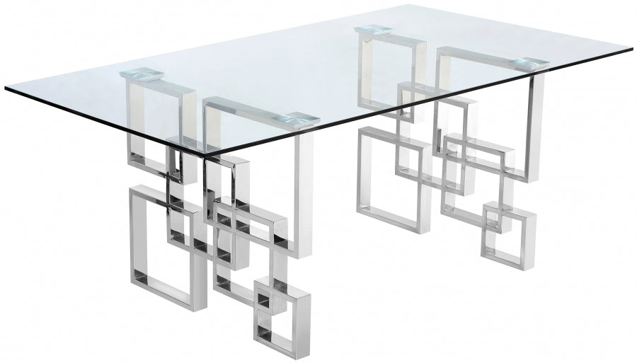 ALEXIS CHROME DINING TABLE