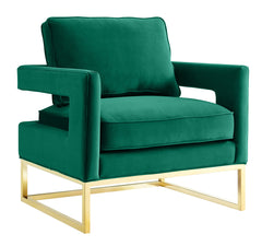 AVERY GREEN VELVET CHAIR