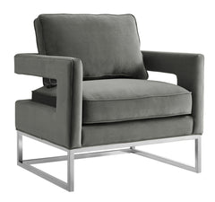 AVERY GREY VELVET CHAIR