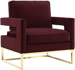 AVERY BURGUNDY VELVET CHAIR