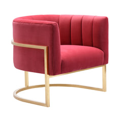 Magnolia Hot Pink Velvet Chair