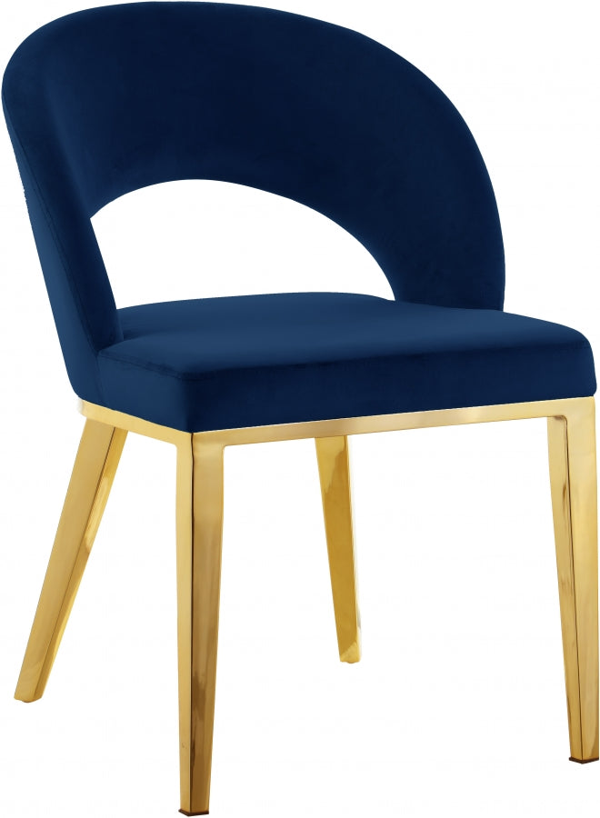 ROBERTO GOLD NAVY CHAIR