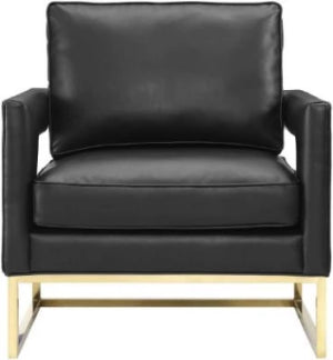 AVERY BLACK LEATHER LIKE CHAIR