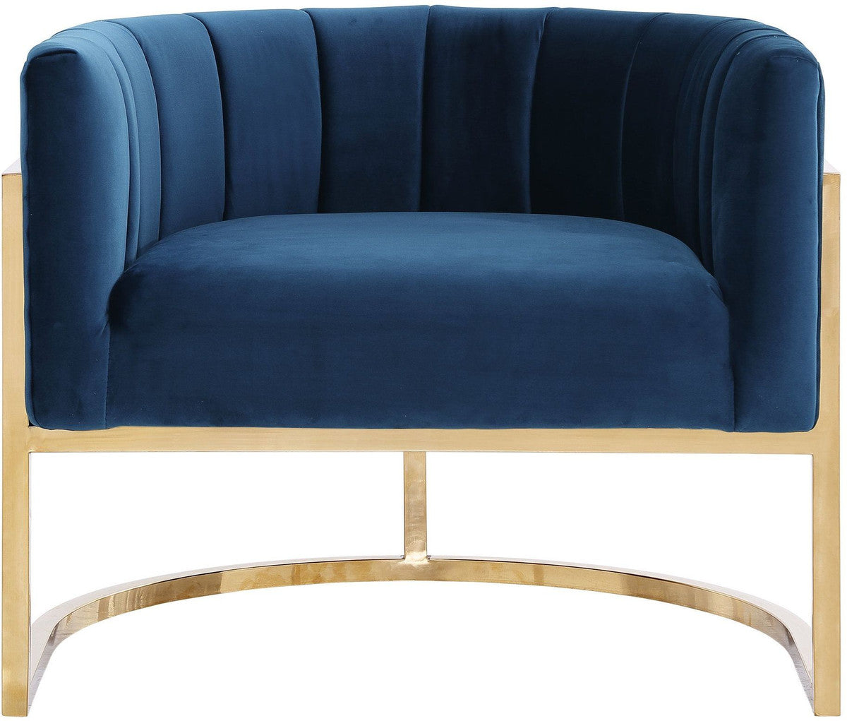 MAGNOLIA NAVY GOLD CHAIR