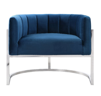 MAGNOLIA NAVY CHAIR SILVER