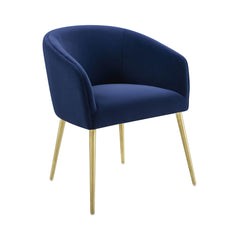 Arya Performance Velvet Navy Dining Chair