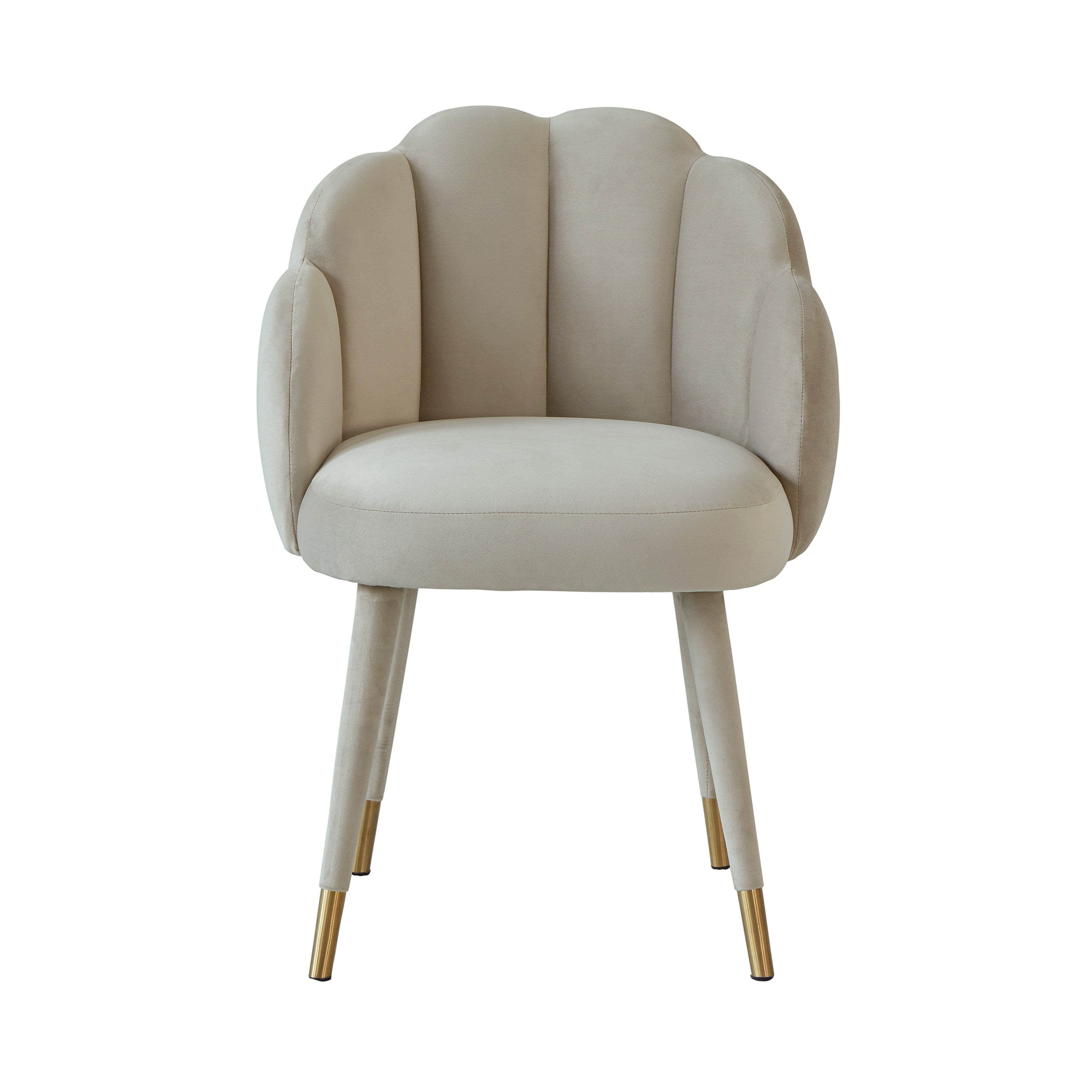 Gardenia Light Grey Velvet Dining Chair