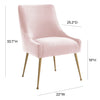 Beatrix Blush Velvet Side Chair