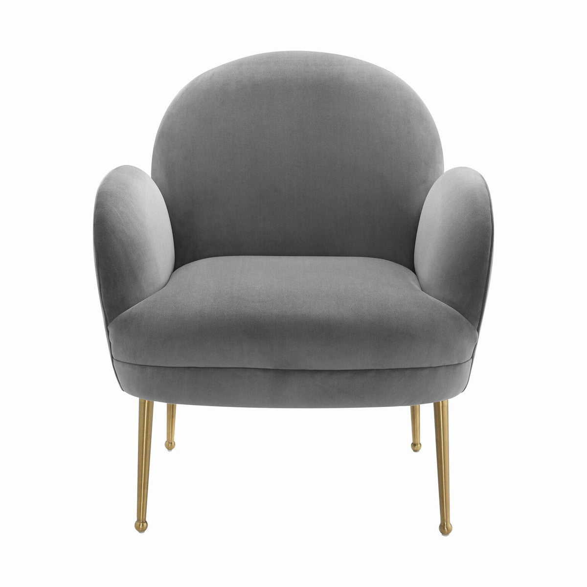 Gwen Grey Velvet Chair