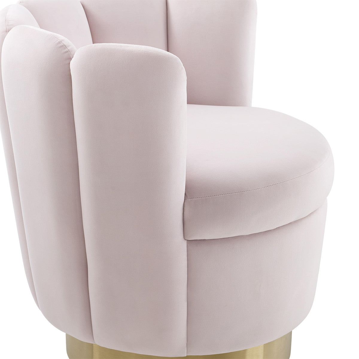 Yad Blush Velvet Swivel Chair