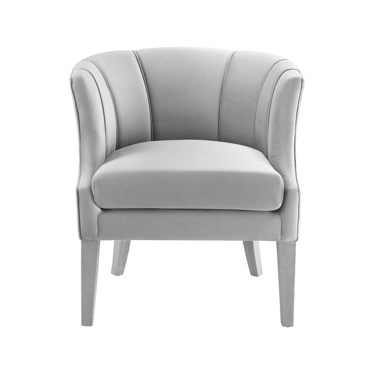 Turin Grey Velvet Chair