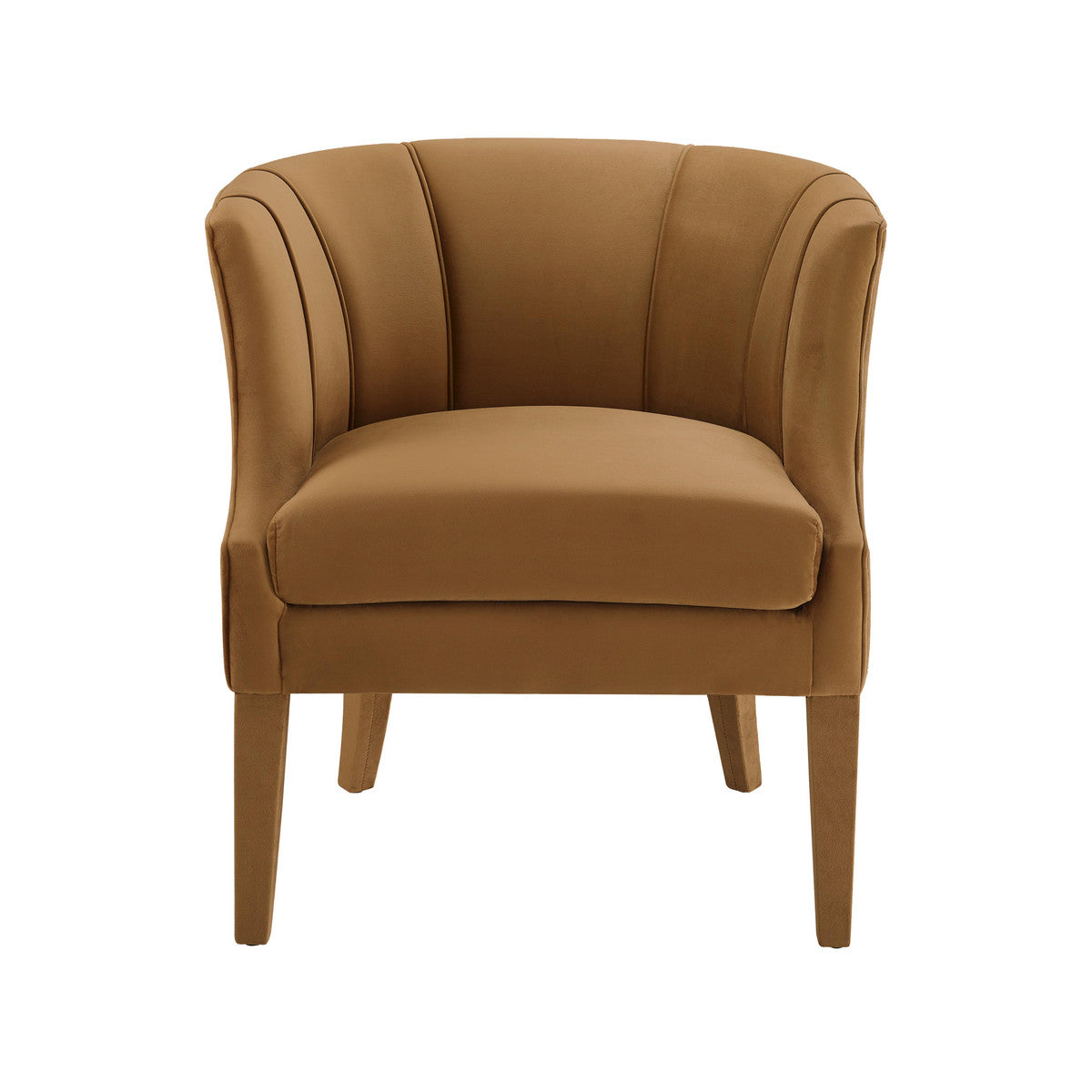 Turin Cognac Velvet Chair