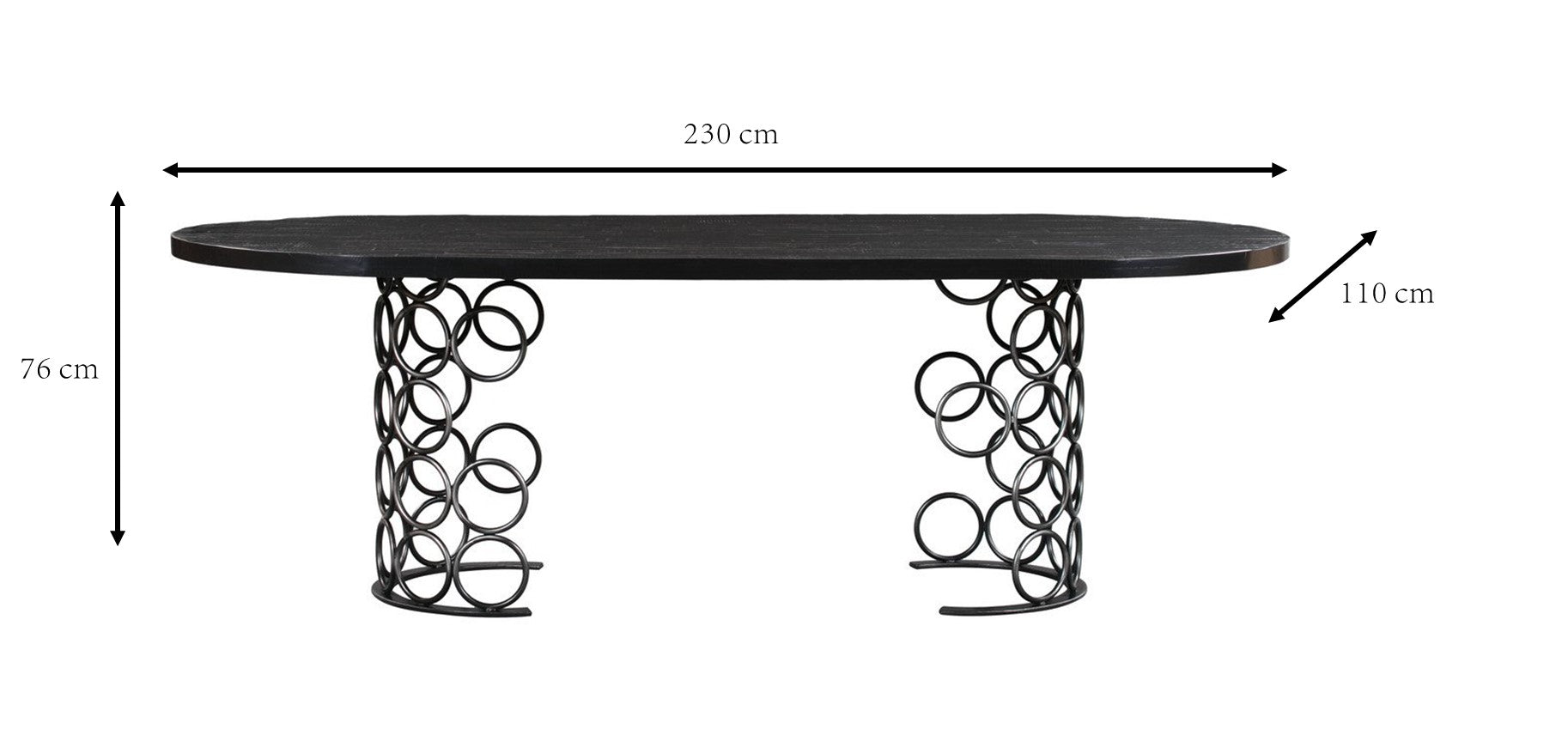 VALENTINA BLACK DINING TABLE
